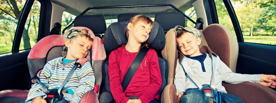 Kids sleeping in car
