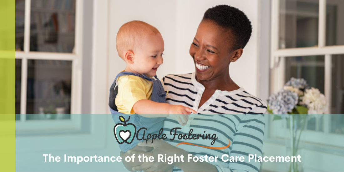 foster mum smiling at foster child