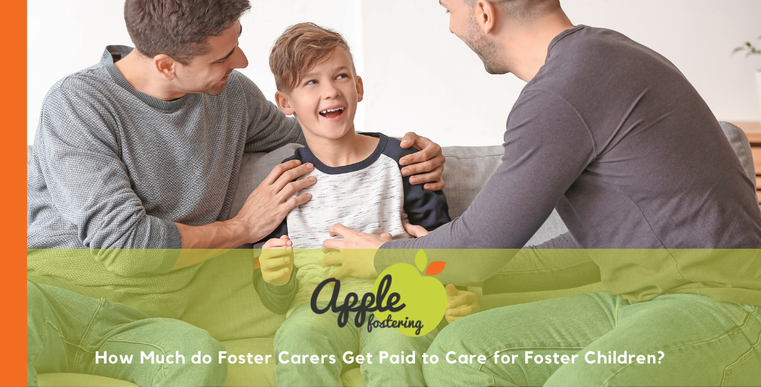 men laughing with foster child