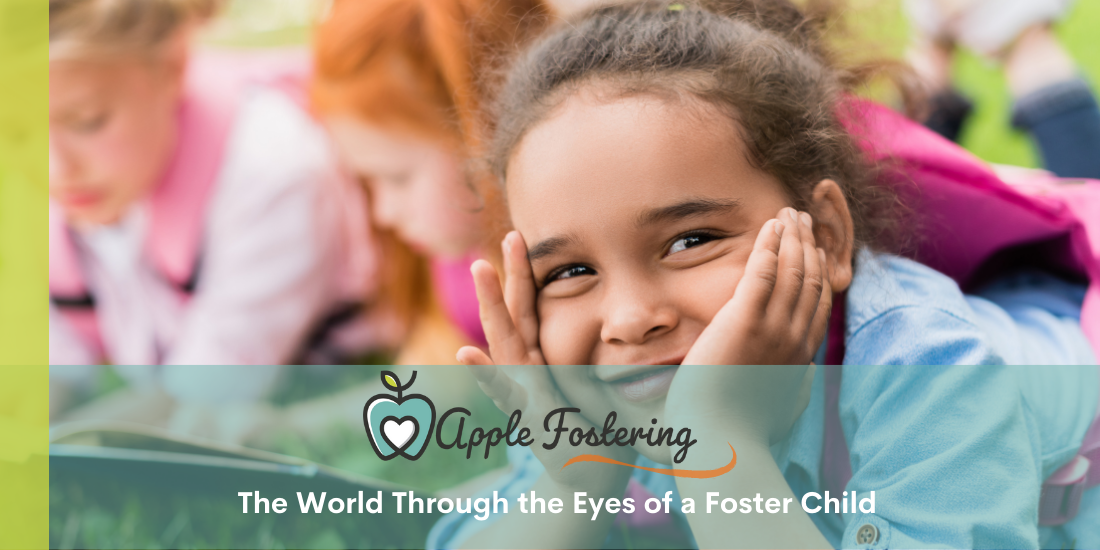 Foster child smiling