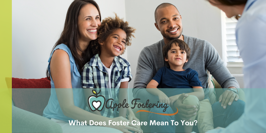 family speaking to fostering agency